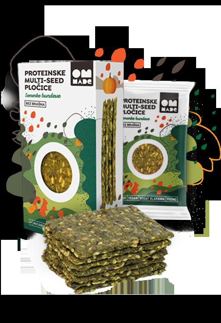 Proteinske multi - seed pločice - Bundeva