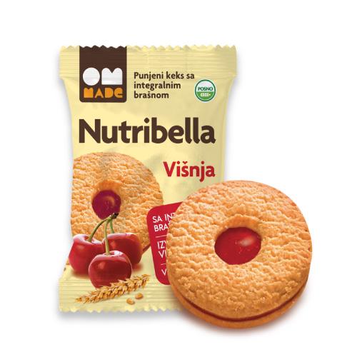 Nutribella punjeni keks višnja 50g